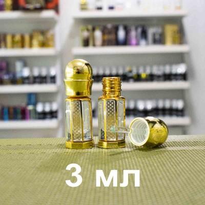 Флакон металлический для масляных духов со стеклянной палочкой и принтом 3 мл