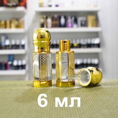 Флакон металлический для масляных духов со стеклянной палочкой и принтом 6 мл