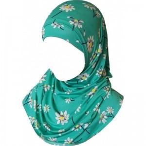 Детский хиджаб амирка Kureys в цветочек