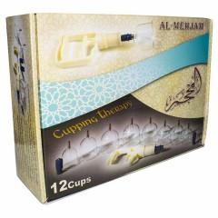 Набор вакуумных банок (12 шт) Al-Mehjam для массажа и хиджамы Hijamah