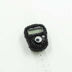 Электронные четки (Тасбих) для зикра с камушками Чёрный