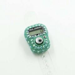 Электронные четки (Тасбих) для зикра с камушками Зеленый