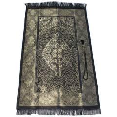 Коврик для молитвы подарочный набор Sajda 70 х 120 см Черный