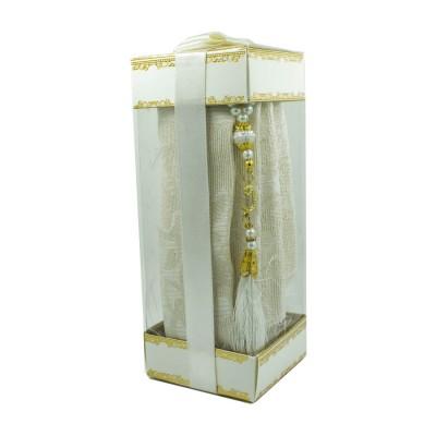 Коврик для молитвы подарочный набор Sajda 70 х 120 см Бежевый