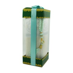 Коврик для молитвы подарочный набор Sajda 70 х 120 см Бирюза