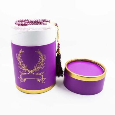 Коврик для молитвы подарочный набор колба Sajda 70 х 115 Фиолетовый