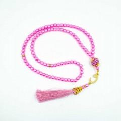 Чётки Тасбих для зикра 99 бусин Розовый