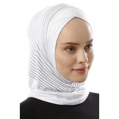 Хиджаб Балаклава с нахлёстом Ecardin Model 2 Белый