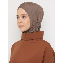 Хиджаб Балаклава с нахлёстом Ecardin Model 2 Светло-коричневый