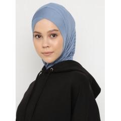 Хиджаб Балаклава с нахлёстом Ecardin Model 2 Голубой