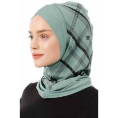 Хиджаб Балаклава с нахлёстом Ecardin Model 10 Светло-зеленый