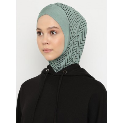 Хиджаб Балаклава с нахлёстом Ecardin Model 4 Зеленый