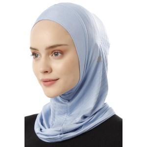 Хиджаб Балаклава без нахлеста Ecardin Model 1 Голубой