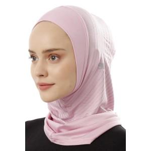 Хиджаб Балаклава без нахлеста Ecardin Model 1 Розовый