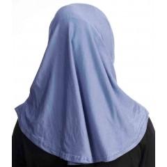 Детский хиджаб амирка Прямая Ecardin Kids Голубой