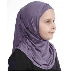 Детский хиджаб амирка Прямая Ecardin Kids Фиолетовый