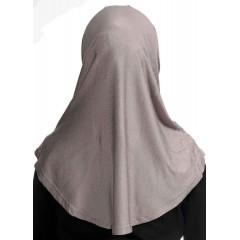 Детский хиджаб амирка с нахлёстом Ecardin Капучино