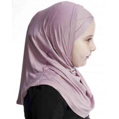 Детский хиджаб амирка с нахлёстом Ecardin Розовый