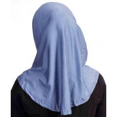 Детский хиджаб амирка с нахлёстом Ecardin Голубой