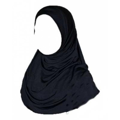 Хиджаб амира детская Kureysh цельное Чёрный