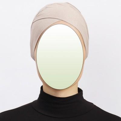 Боне (шапочка под хиджаб) с нахлёстом Ecardin Capraz Bone Бежевый