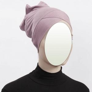 Боне (шапочка под хиджаб) с нахлёстом Ecardin Capraz Bone Розовый