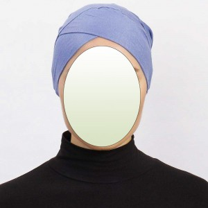 Боне (шапочка под хиджаб) с нахлёстом Ecardin Capraz Bone Голубой