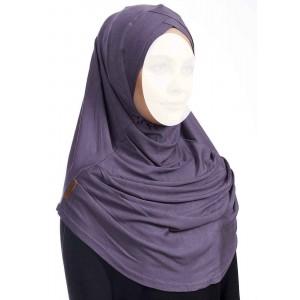 Хиджаб цельный с нахлестом Ecardin Capraz Turban Сиреневый