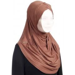 Хиджаб цельный с нахлестом Ecardin Capraz Turban Горчичный