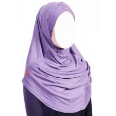 Хиджаб цельный с нахлестом Ecardin Capraz Turban Розовый