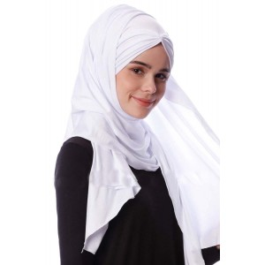 Палантин хиджаб с завязками Pile Şal Ecardin Белый