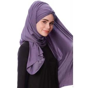 Палантин хиджаб с завязками Pile Şal Ecardin Сиреневый
