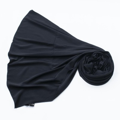 """Палантин Ozsoy """"Мединский шёлк"""" 190*70 см Чёрный"""