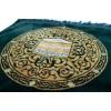 Коврик для намаза Кааба в круге Drop Sajda Тёмно-зеленый с золотом