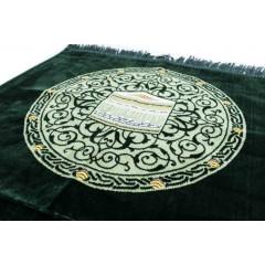 Коврик для намаза Кааба в круге Drop Sajda Тёмно-зелёный