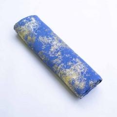 Палантин Креп-шифон с блесками Голубой