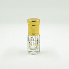 Флакон Стеклянный для масляных духов 333-15 с роликом Золото 3 мл