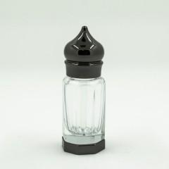 Флакон металлический для масляных духов со стеклянной палочкой Черный 6 мл