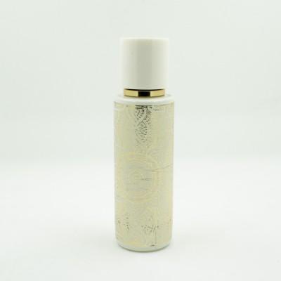 Флакон для спрей парфюмерии с золотистым принтом 30 мл Белый