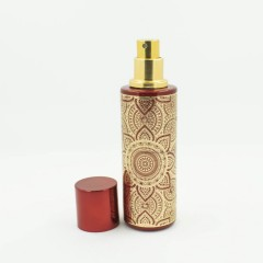 Флакон для спрей парфюмерии с золотистым принтом 30 мл Красный