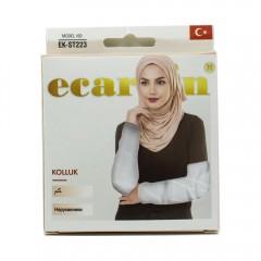 Нарукавники женские Ecardin Kolluk Белый