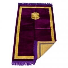 Коврик для намаза Кааба в рамке Sajda 67x110 Фиолетовый