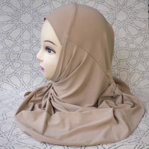 Хиджаб цельный Pileli Hijab Mercan Бежевый