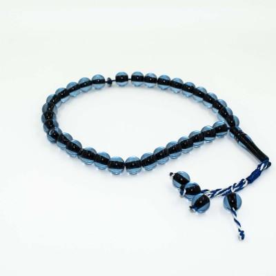 Четки Тасбих Классические (черно-голубые)