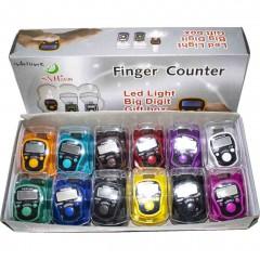 Электронные четки (тасбих) с подсветкой. Упаковка (12 штук) Разноцвет