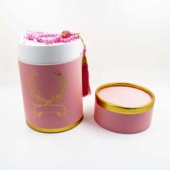 Коврик для молитвы подарочный набор колба Sajda 70 х 115 Розовый