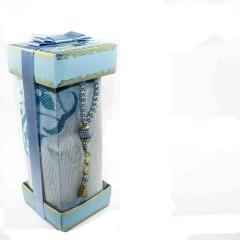 Коврик для молитвы подарочный набор Sajda 70 х 120 см Голубой 0510209