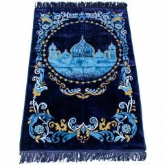 Коврик для намаза Силуэт Мечети Sajda 68x120 Синий