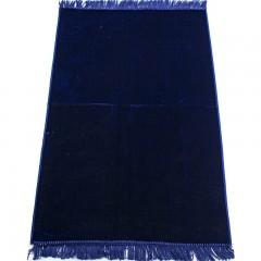 Коврик для намаза без узора Плотный Sajda 69x114 Темно-Синий