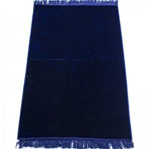 Коврик для намаза без узора Плотный Темно-Синий